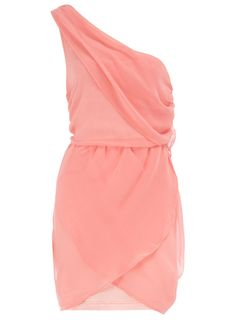 3. Dorothy Perkins Pink One Shoulder Dress    Price: $44.00 at us.dorothyperkins.com  This peachy pink dress is perfect for wearing to a garden party or on a night out. It has a one …
