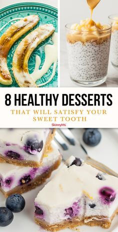 These healthy desserts will satisfy your sweet tooth but won't break your diet plan. These healthy desserts will satisfy your sweet tooth but won't break your diet plan. Healthy Sweet Treats, Healthy Desserts, Healthy Food, Healthy Recipes, Healthy Eating, Sugar Free Desserts, Dessert Recipes, Cake Recipes, Dinner Recipes