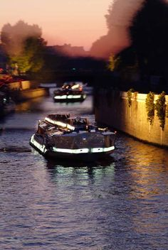 Taking an evening tour of Paris by boat is unparalleled as romantic experiences go. The city seems to be fanned out before you as you lazily drift down the Seine River or Paris' miles-long network of canals.