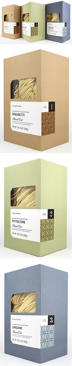 williams sonoma in-house design | artisan pasta packaging. I love williams sonoma's packaging.