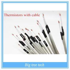 3d printer parts 50Pcs/lot 100K ohm NTC 3950 Thermistors with cable for 3D Printer Reprap Mend RAMPS 1.4 A4988 MK2B HEATBED