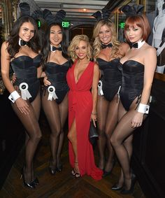 The Sunset Strip has a new playhouse in town. See more exclusive photos of Bar Fifty Three's opening night on our website. Pictured here: Alana Campos, Hiromi Oshima, Dani Mathers, Carly Lauren, Kimberly Phillips.
