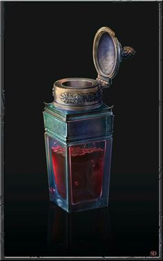 Svyatoslav Dobrovolsky : ArtStation is the leading showcase platform for games, film, media & entertainment artists. Fantasy Weapons, Fantasy Rpg, Magic Bottles, Potion Bottle, Weapon Concept Art, Game Item, Game Design, Dungeons And Dragons, Game Art