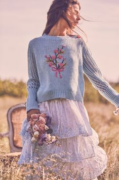 e7ff8ed3737 Pastel Fashion, Floral Bouquets, Needle And Thread, Bell Sleeve Top, Bell  Sleeves