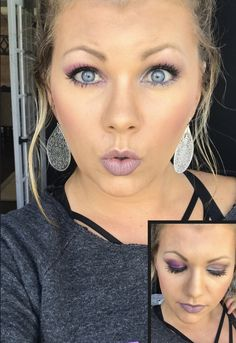 """Younique Makeup: 2 different looks using Splurge Cream shadow """"Majestic"""" on the left and Palette 5 on the right"""