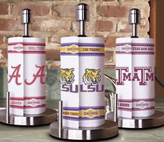 Love that the prototypes are all SEC teams!!! We need some UGA towels!!! Gameday Paper Towels. #Alabama #LSU #TexasAM