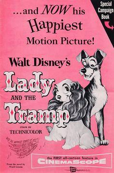 Lady and the Tramp - Vintage Disney poster. Vintage Disney Posters, Retro Disney, Disney Movie Posters, Old Movie Posters, Movie Poster Art, Poster S, Music Posters, Walt Disney, Disney Love