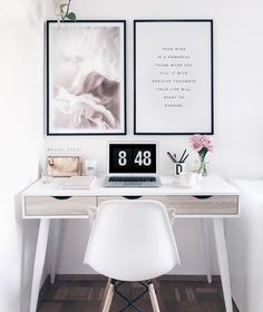 Cozy workspace home office decoration ideas 25 Small Home Offices, Home Office Space, Home Office Design, Home Office Decor, Home Decor Bedroom, Decor Room, Small Office, Bedroom Wall, Master Bedroom