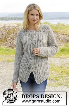 Ravelry: 157-19 Lazy Afternoon Jacket pattern by DROPS design