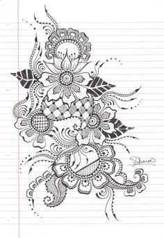 Pretty henna design. I've been doing a lot of pen drawings as a way of getting my creative juices flowing. Love these designs. This is not mine, btw
