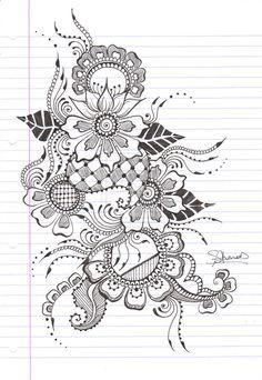 #doodles, #tangle art, #zia,