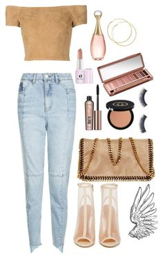 """""""Just let me die"""" by angel17-angel17 ❤ liked on Polyvore featuring Shoe Cult, Topshop, Alice + Olivia, STELLA McCARTNEY, Gucci, Urban Decay, Napoleon Perdis, Benefit, Too Faced Cosmetics and Christian Dior"""