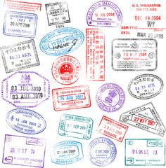 Different passports template vector 04