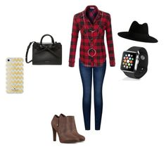 """""""Addison!!"""" by lindsayxoxo2004 ❤ liked on Polyvore featuring 2LUV, Nine West, Yves Saint Laurent, Kate Spade, Botkier and Apple"""