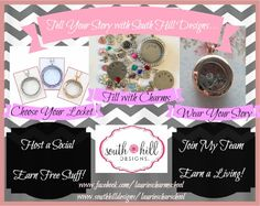 Beautiful create it yourself charm necklaces www.southhilldesigns.com/lauriescharmschool