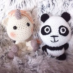Panda unicorn /eenhoorn made by Annemarie Evers/mani di Anne
