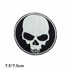 skull patch punk patch git patch skull embroidery embroidered patches iron on patch sew on patch A137