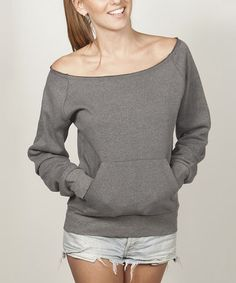 Love this Black Off-Shoulder Pullover by Banana Split on #zulily! #zulilyfinds