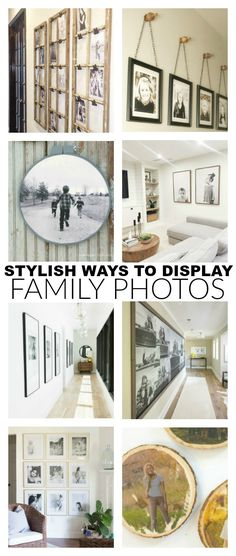 Make your house a home with these stylish ways to display family photos.