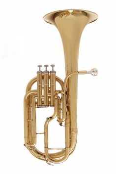 Brass Musical Instruments & Gear Humor Stagg Eb Three Valve Tenor Horn Brass Body Clear Lacquer Finish *fast Postage*