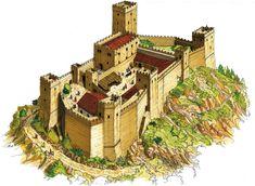 Fantasy City, Fantasy Castle, Fantasy Map, Medieval Fantasy, Italy Architecture, Revival Architecture, Ancient Architecture, Matilda, Castle Layout