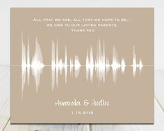 Wedding Day Gifts for Parents Voice Recording Gift for Mom Wedding Gifts For Mom For Dad Thank You Gift For Parents, Wedding Gifts For Parents, Wedding Thank You Gifts, Unique Wedding Gifts, Bride Gifts, Gifts For Mom, Gift Wedding, Wedding Vow Art, Wedding Trends