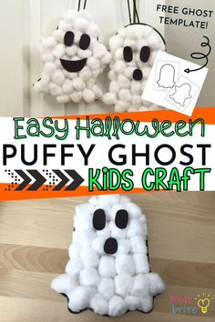 Halloween Ghosts, Spooky Halloween Crafts, Halloween Kids, Halloween Crafts For Toddlers, Halloween Party, Toddler Halloween Activities, Halloween Makeup, Halloween Sounds, Halloween College