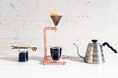 Pour Over Coffee Maker by BRIT + COYou'll never go to Blue Bottle, Ritual, or Sightglass coffee again after you make your own chic pipe holder.