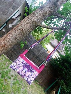 Sac ChaChaCha rose et violet d'Herveline - Patron pochette triple Sacôtin