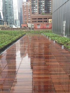 Wood tile pavers make for an excellent roof deck. 250 West - New York, NY Roof Deck, Roof Design, Towers, Terrace, Broadway, Tile, Sidewalk, York, Architecture