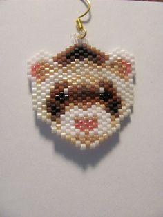 """A beautiful pair of """"Rascal"""" ferret earrings"""
