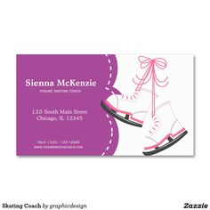 sold #Skating #Coach Business Card #wintersport Available in different products. Check more at www.zazzle.com/graphicdesign
