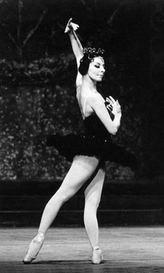 "Alicia Alonso as 'Odile' in act III of ""Swan Lake"", circa late 1950's. Photo by Luis Castañeda.  Amazing dancer -- she danced BLIND.  She lost most of her vision as a teenager and used the bright stage lights near the orchestra pit to orient herself."