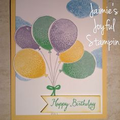 New Balloon Celebration stamp set from the Stampin Up 2016 Occasions catalogue