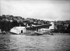 TEAL Airways flying boat @ Evans Bay-Wellington, 1938 Before Air NZ came about!