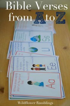 Bible Verses for Children {free printable ABC Bible Verses for kids -- free alphabet bible printables! Wildflower RamblingsABC Bible Verses for kids -- free alphabet bible printables! Bible Verses For Kids, Bible Study For Kids, Children's Bible, Kids Memory Verses, Toddler Bible Crafts, Free Bible, Scripture Verses, Bible Quotes, Preschool Bible Lessons