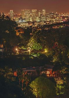 Beautiful night view of #losangeles #hollywood