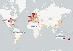 Carte interactive du prix des taxis.