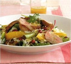Duck Salad with Mushrooms and Oranges Recipe #stepbystep
