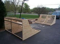 How to Build a Backyard Climbing Wall, Skate Ramp Longboarding, Wakeboarding, Bmx Ramps, Scooter Ramps, Scooter Scooter, Backyard Skatepark, Backyard Play, Outdoor Projects, Diy Projects
