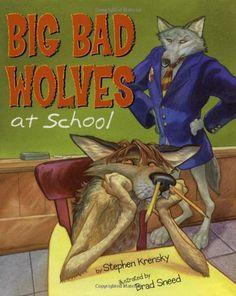 Big Bad Wolves at School by Stephen Krensky,http://www.amazon.com/dp/0689837992/ref=cm_sw_r_pi_dp_PIOKsb02CPENVFGQ