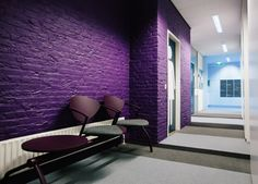 Colourful interior renovation of an office.