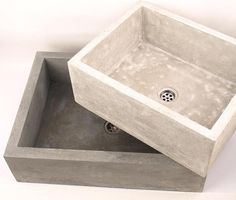 Medium concrete sink UB2 overtop washbasin unusual by Dekornia