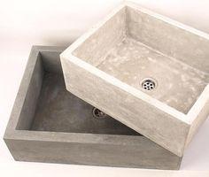 Medium concrete sink UB2 overtop washbasin unusual by Dekornia