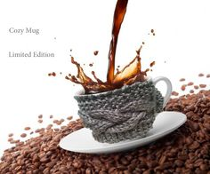 Cable knitted Coffee Cozy - Cup warmer - knitted coffee cozy mug Many colors to choose - mug warmer Soft yarn tea cozy mug (4.99 USD) by GraphicsAndMore