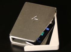The uber slick 'PhoneSoap' sanitizes your cell phone while charging!