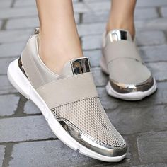 66ec443d38f Shoes - 2018 New Fashion Lady s Breathable Casual Loafer. What others are  saying. Prettymia Plus Size Mesh Breathable Lightweight Slip ...