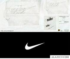 """Vocês sabem qual é o nome do símbolo da Nike? Ele é chamado de """"Swoosh"""" e foi criado pelo estudante de design gráfico, Carolyn Davidson em 1971."""
