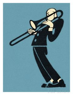 Man Playing Trombone Posters by Pop Ink - CSA Images at AllPosters.com
