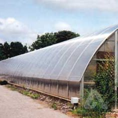 Arched Greenhouse - Polycarbonate is easily cold formed.